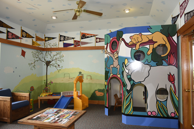 The Waiting Room at the Pediatric Dentist Office serving Greenville, Simpsonville, Easley and Taylors